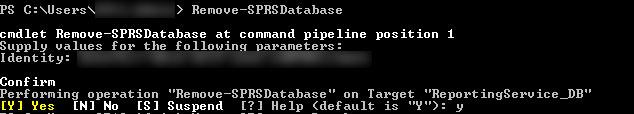 remove-sprsdatabase